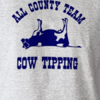 All County Team Cow Tipping T-shirt