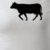 Black Cow Silhouette T-shirt
