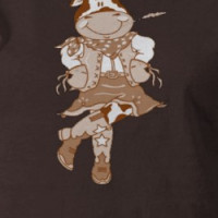 Brown Cow CowGirl T-shirt