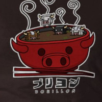 Cow Cube Soup Bowl T-shirt