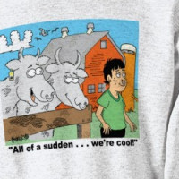 COW / NOSE RING / FARMER KID CARTOON GIFTWARE T-shirt
