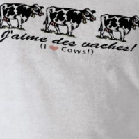 cows_french_3 T-shirt