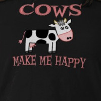 Cows Make Me Happy T-shirt