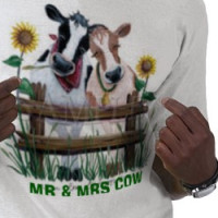 COWS, MR & MRS COW T-shirt