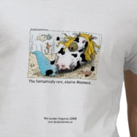 Funny Cow Organic Cotton Quality Men's Tee MOOMAID T-shirt