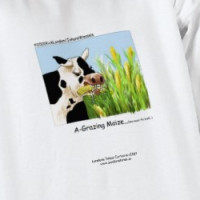"Hilarious Cow ""A-Grazin' Maize"" Sweatshirt T-shirt"