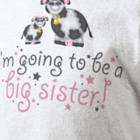 Im Going To be A Big Sister Cows Shits T-shirt